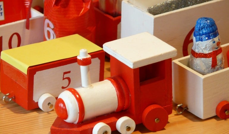 Melissa and Doug train sets