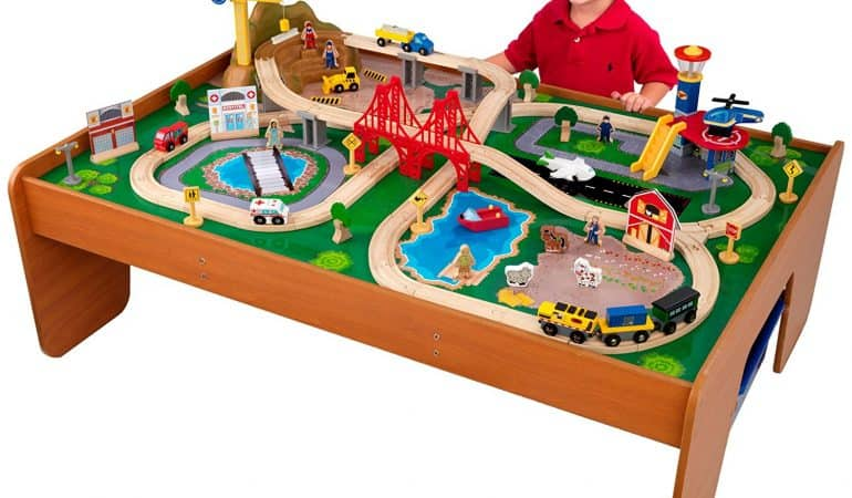 18 Kidkraft Wooden Train Table