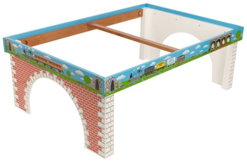 Another great but somehow, an expensive set is this Thomas and friends  wooden railway train table from Learning Curve.