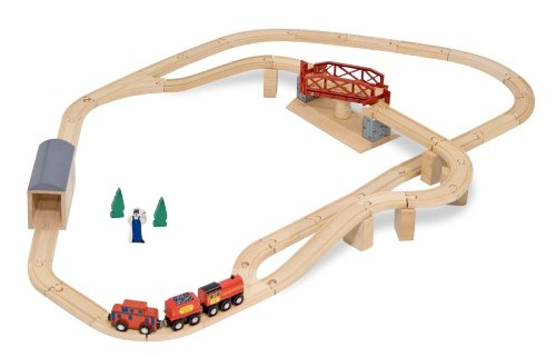 Melissa and Doug Wooden Train Sets For Kids