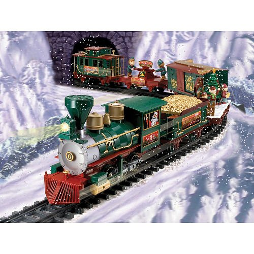 ez tec 37260 north pole express christmas train set - Train Set For Christmas Tree