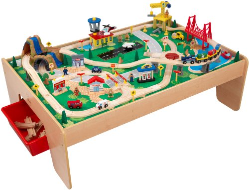 The KidKraft Watefall Mountain Train Set And Table Promote Fun And  Learning. It Offers Your Children A Wide And Generous Play Table Giving Him  Enough Space ...