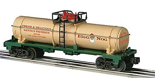 lionel trains christmas egg nog single dome tank car 26149