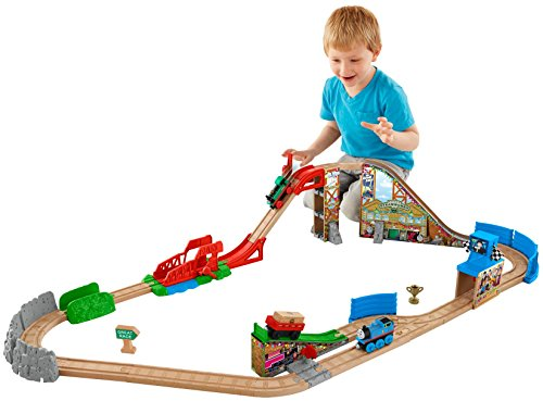 Wooden Train Set For Kids Toy Train Center