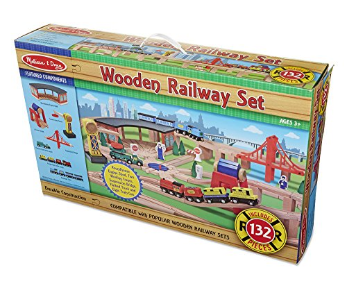 Melissa and Doug Wooden Train Sets For Kids | Toy Train Center