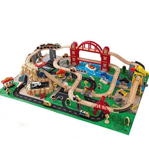 This Is A Great Kids Train Toys Made Out Of Real And Durable Wood From  Kidkraft. It Features A Metropolis Train Setting, Complete With A Play Mat  And Other ...
