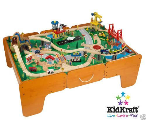 Kidkraft Limited Edition Waterfall Mountain Train Table And Train Set