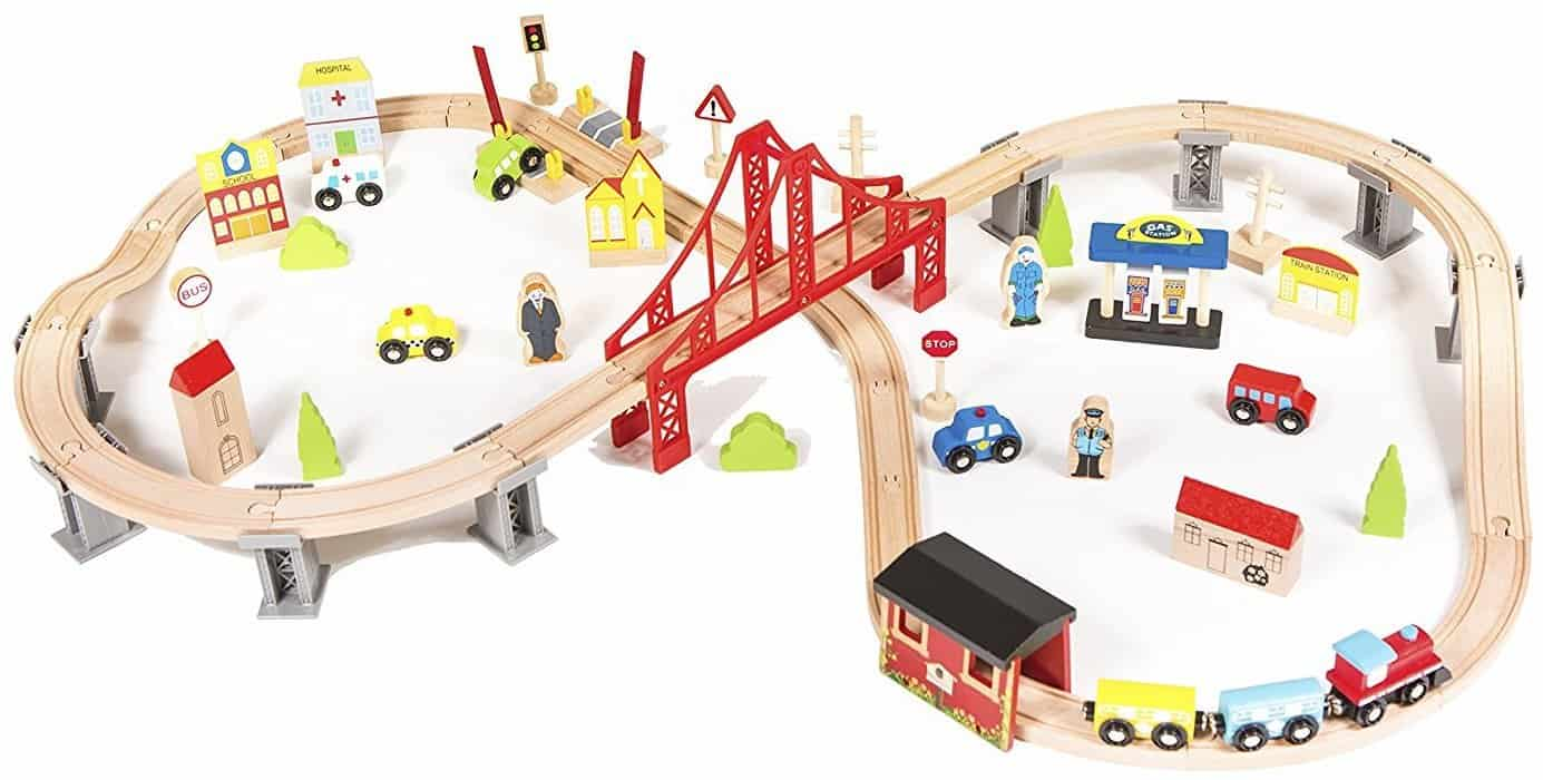 Best Wooden Train Sets For Kids Toy Train Center