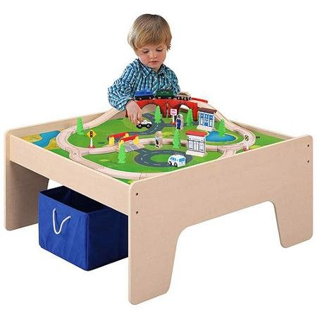 Wooden Train Table | Toy Train Center