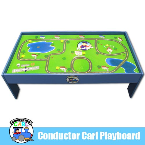 Conductor Carl Playtable and Playboard for Wooden Train Set  sc 1 st  Toy Train Center & Wooden Train Table   Toy Train Center