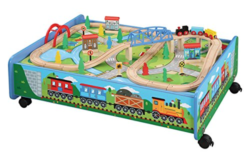 It Is Obvious That Most Of Train Tables And Sets Are Usually Expensive.  However, Maxim Enterprise INC Made It Possible For A Kids Wooden Train Table  To Be ...