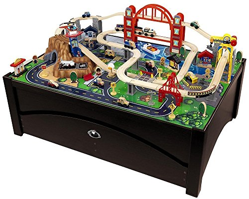 Pleasant Wooden Train Table Toy Train Center Interior Design Ideas Apansoteloinfo