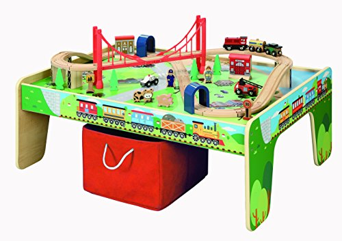 50 piece Train Set with Train / Play Table \u2013 BRIO and Thomas \u0026 Friends Compatible  sc 1 st  Toy Train Center & Thomas the Train Table | Toy Train Center