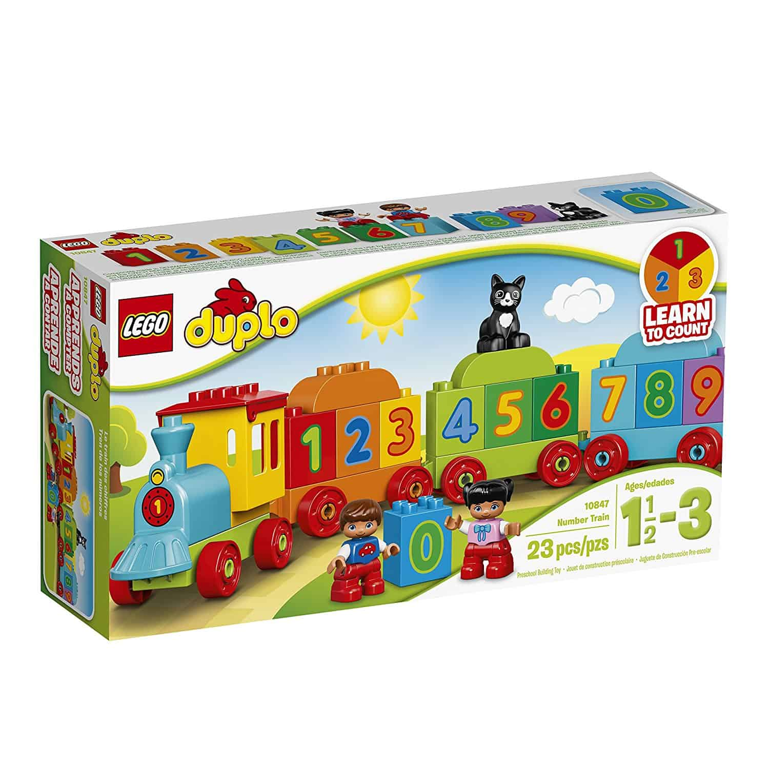 Steady Electronic Rail Track Car Battery Power Educational Toy Gift For Children Kids Toys & Hobbies