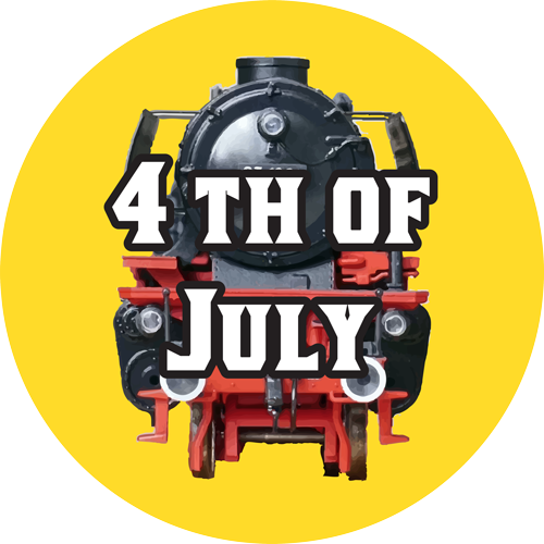 toy trains fourth of july