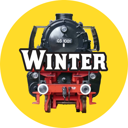 toy trains winter